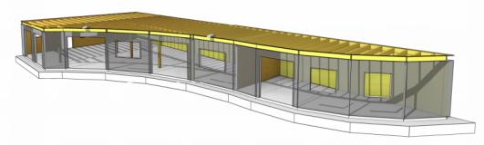 hoofddraagconstructie Villa Kakelbont - perspectief constructie