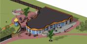 ORIO - axonometrie Villa Kakelbont met toekomstige uitbreiding