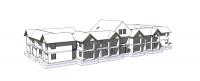Zorgappartementen Vroomshoop - BIM model constructief voorzijde