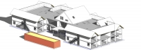 Zorgappartementen Vroomshoop - BIM model constructief vogelvlucht